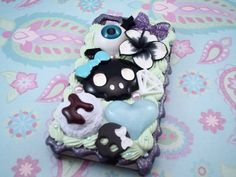 Sweet and Spooky Deco Kawaii Decoden Case for by Lucifurious, $42.00 #creepy #decoden #goth #iphonecase