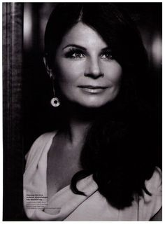 Carola Häggkvist Swedish singer and winner of Eurovision Song Contest is the epitome of glam wearing the Lara Bohinc Apollo II Drop earrings in her interview with ELLE Sverige, May 2013 #LaraBohinc #Swedish #ELLE
