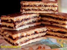 Prajitura cu gem si nuca (de post) (reteta video), poza 1 Vegan Desserts, Vegan Recipes, Dessert Recipes, Vegan Food, Romanian Food, Tiramisu, Yogurt, Food And Drink, Sweets