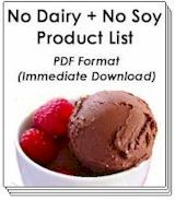 No Dairy + No Soy Product List (all types of lists by allergy)