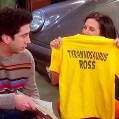 Ross and his T-shirt.. I simply need one!