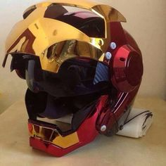 IRONMAN HELMET BY MASEI 610 HELMETS IN 2015 I want it so bad ... IRON-MAN Movies!