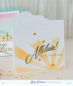 Alleluia Card by Betsy Veldman for Papertrey Ink (February 2015)