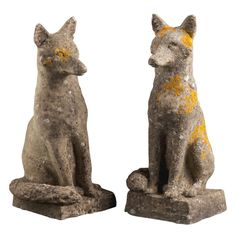 1stdibs   Pair of Stone Foxes