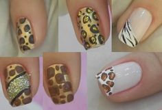 Unhas com estampa de animal