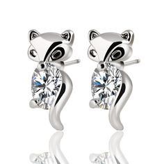 a3f1c0565 Cheap earings rings, Buy Quality earring holder jewelry box directly from  China earring color Suppliers: 2015 Classic Animal Fox Stud Earrings Alloy  Plated ...