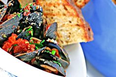 Mussels alla diavola - also good with shrimp