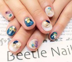 Nail Art - Beetle Nail : 八幡|天然石ネイル  #ネイル #ビートル近江八幡 #ビートルネイル #ネイル近江八幡 #天然石ネイル #夏ネイル #Summernail