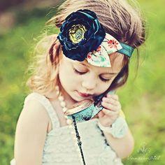 Little girls fashion - flower headband