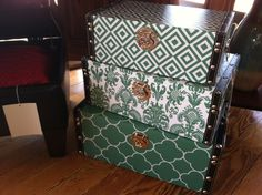 Any girl would love these for her bedroom or dorm room. Trendy color with storage space as well!