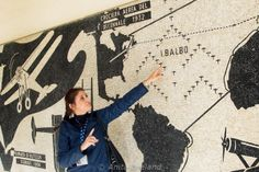 Learning about the mosaics at the former Collegio Aeronautico G.I.L., Forli