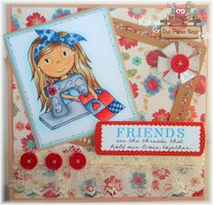 The Paper Nest: Friends are The Threads - Sewing Avery by Katie @thepapernest