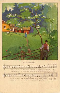 Martta Wendelinin kesä illustration sheet music