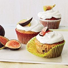 Summer Desserts | Green Tomato and Fig Cupcakes | CookingLight.com