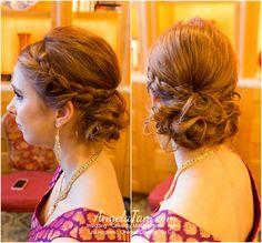 Makeup and Hair: Angela Tam Celebrity Wedding Makeup, Wedding Makeup Artist, Bride Makeup, Wedding Hair And Makeup, Bride Hairstyles, Down Hairstyles, Belage Hair, Bridesmaid Hair Up, Bridal Hair Up