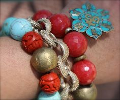 There is just something so great about Red and Turquoise!  Facebook-RubyJames by Lauren Wall