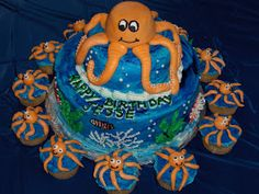 Cat's Cake Creations: Octopus Under the Sea Cake