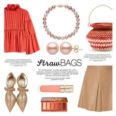 """""""The Last Straw: Basket Bags"""" by pearlparadise ❤ liked on Polyvore featuring Alice + Olivia, Sensi Studio, See by Chloé, Olgana, Urban Decay, Smith & Cult, contestentry, pearljewelry, pearlparadise and basketbags"""