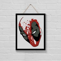 BoGo Pattern cross stitch Deadpool Instant Download by LolitaMade