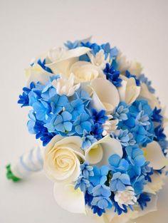 Свадебный букет для голубой свадьбы