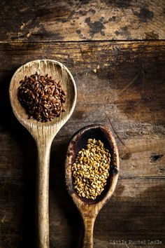 Ancient Grains and Oatmeal on Wooden Spoons - Little Rusted Ladle_0020-WEB WM