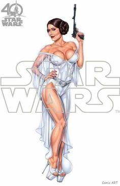 Sexy Star Wars Leia Organa artwork