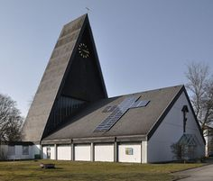Eco-Friendly Church, solar panels for the cross. Love this!!