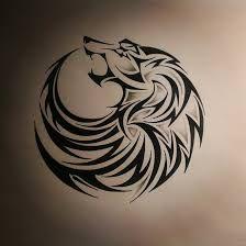 Resultado de imagen para tattoo lobo tribal