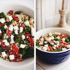 Mediterranean quinoa bowl via sprouted kitchen