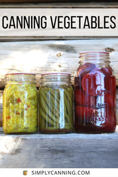 Canning vegetables is perfect for the beginner. Fresh veggies from your garden (or farmer's market) retain higher nutrition, and canning is a great way to preserve your hard work. Learn at #SimplyCanning #CanningVegetables #Vegetables Canning Vegetables, Veggies, Pressure Canning, Beets, Farmers Market, Preserves, Stew, Green Beans, Pantry