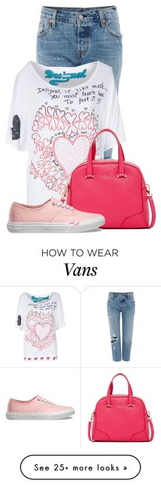 """Untitled #14655"" by nanette-253 on Polyvore featuring Levi's, Desigual, Furla, Vans, women's clothing, women, female, woman, misses and juniors"