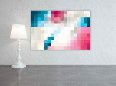 Pixelate - Blue Taupe Pink - hardtofind.  This would be great as a blanket.