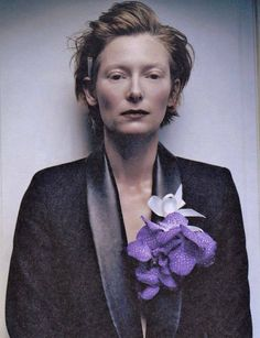 Tilda Swinton, almost no eyebrow and beautiful