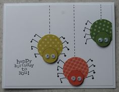 birthday for boys, Also think Halloween. In My Craft Room: Spider - use circle punches