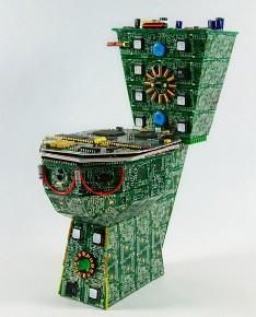 Royal Data Throne made out of printed circuit boards