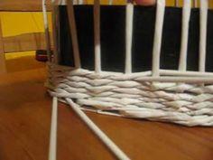 Opletek dvěma ruličkami Papercrete, Basket, Paper Crafts, Youtube, Tutorial, Friends, Box, Videos, Step By Step