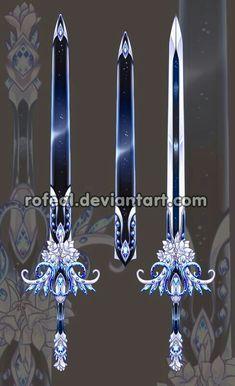 Sword, blue, sheath; Anime Weapons