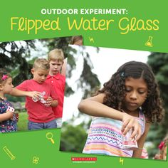 Is it magic? This fun flipped water trick will teach your child the science behind the act!