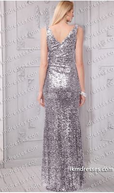 Sparkling elegance! Stunning gown has curve-flattering ruching and a dramatic V neckline.   this dress is just gorgeous and perfect for prom, pageants, homecomings, and more!   	Style: KM-87388B 	Back Design :V'd   back  	Bodice :Fitted 	Fabric: Sequi 	Neckline :V-neck 	Sleevestrap:Sleevesless  	Color Available: Gold,Silver    	Special offer:customize your dress for free