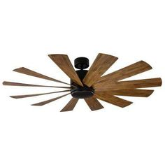 Buy the Modern Forms Graphite / Direct. Shop for the Modern Forms Graphite / Windflower 12 Blade Hanging Indoor / Outdoor Smart Ceiling Fan with LED Luminary and Wall Control and save. 60 Inch Ceiling Fans, 60 Ceiling Fan, Outdoor Ceiling Fans, Led Ceiling, Outdoor Fans, Black Ceiling, Windmill Ceiling Fan, Holland Windmills, Matte Black