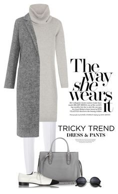 """""""Tricky Trend: Dress and Pants"""" by boxthoughts ❤ liked on Polyvore featuring Giambattista Valli, Ralph Lauren Black Label, Whistles, Balenciaga, Miu Miu, Kershaw, women's clothing, women's fashion, women and female"""