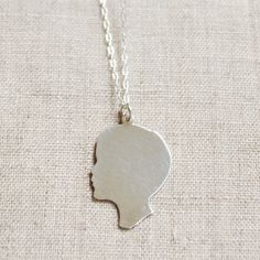 Awesome personalized silhouette gifts + jewelry - great Mother's Day gift for a first-time mom.