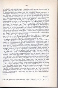 Estratto dall' epistolario di Paganini a cura di Edward Neill  Lettera di Paganini all' amico Germi, Manchester, 15 gennaio 1832