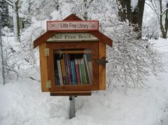 "Madison, WI - very small ""public"" library. Wouldn't these fit so well on the Blue Ridge Parkway?"