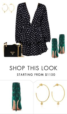 """Untitled #5355"" by teastylef ❤ liked on Polyvore featuring Aquazzura, Yvonne Léon and Prada"