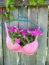 pink ribbon planter