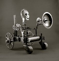 Hey, I found this really awesome Etsy listing at https://www.etsy.com/listing/72502876/steampunk-sculpture-terror-tractor-with