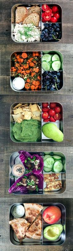 There's nothing quite like the sense of accomplishment that comes from having the perfect healthy lunch planned for work on Monday morning, which is often far easier said than done. Here, we've laid out the menu prep for you—and the best part is, each day's portions fit into a convenient bento box.