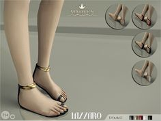 Madlen Lazzaro Sandals by MJ95 at TSR via Sims 4 Updates
