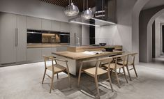 Find out more information about the design and the exclusive features of Arclinea: Convivium. Learn more! Decoration, Interior Design, Building, Table, Furniture, Kitchens, Home Decor, Pantry, Georgia